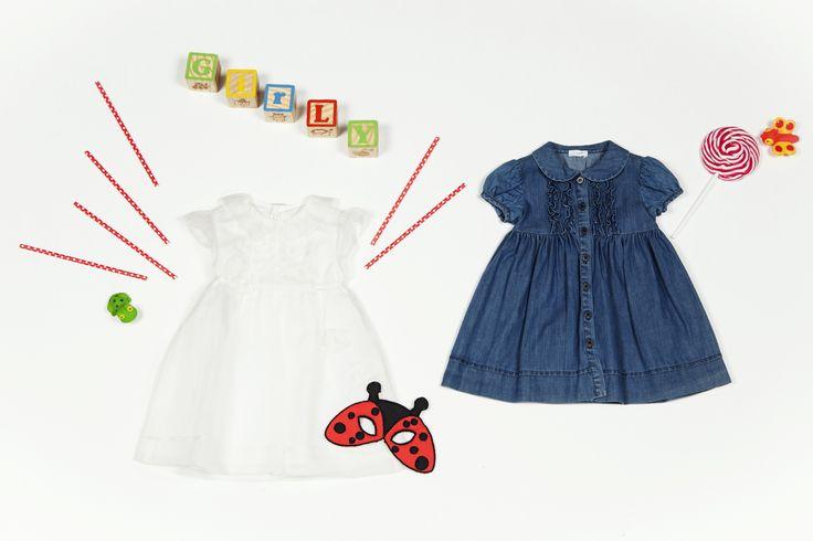 Il Gufo denim&white dresses