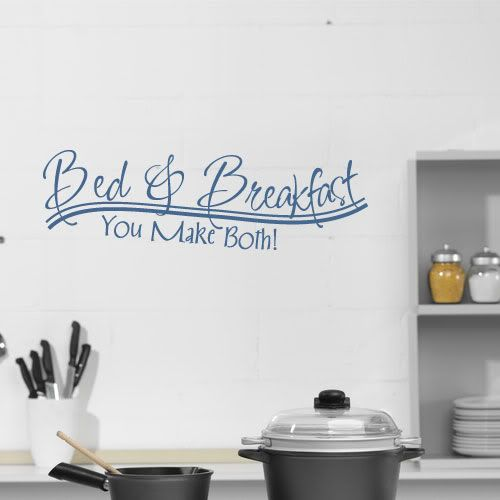 Fun Wall Decals | Bed Breakfast Fun Wall Decal