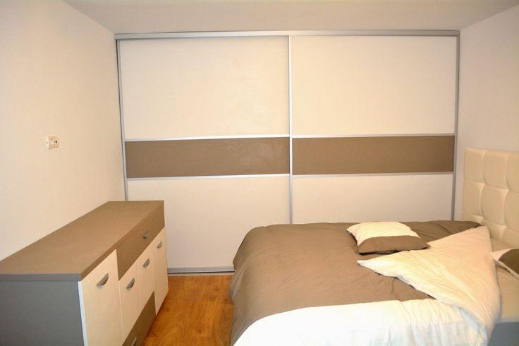 Mobila dormitor  Dressing 2 usi Glisante Pal U727ST22 si W1000ST22 profil aluminiu incastrat