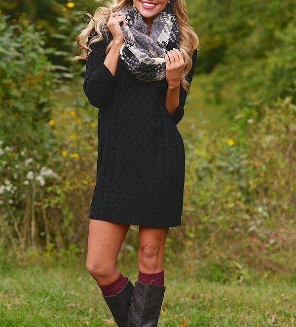 "662 Likes, 6 Comments - Lookastic (@lookastic) on Instagram: ""or? Get this look: lookastic.com/22598 #plaidscarf #sweaterdress"""