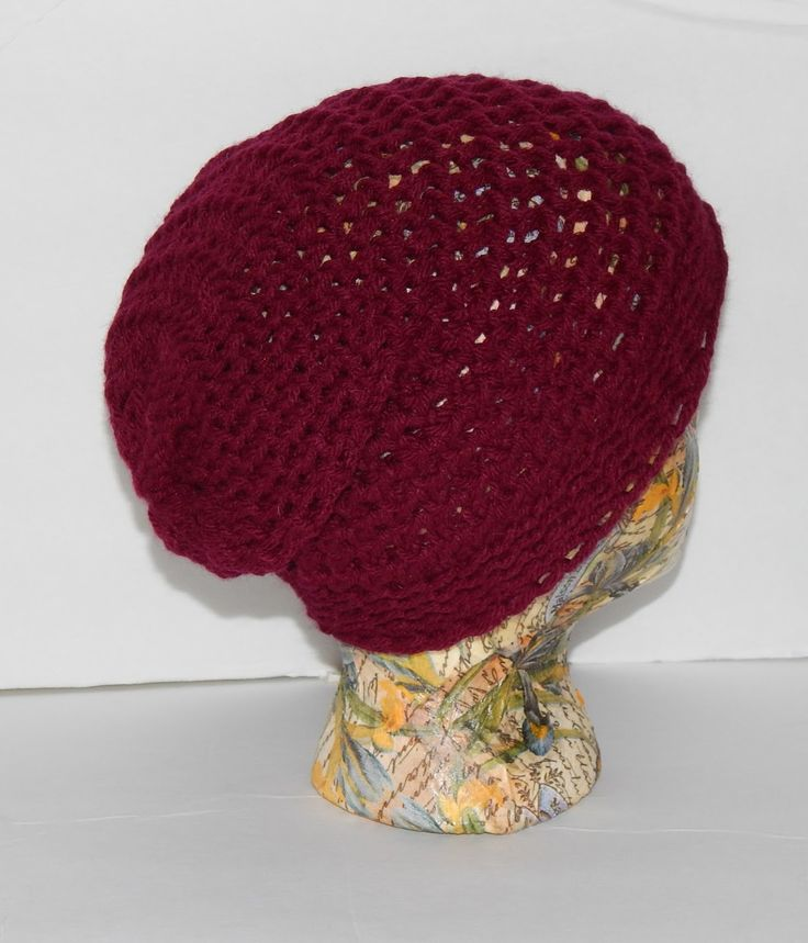 Jovial Knits: Loom Knit Slouchy Hat: Bea's Easy Beanie