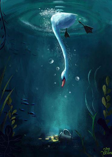 Sólo los que se sumergen,encontraran el tesoro! Www.saracastroart.com