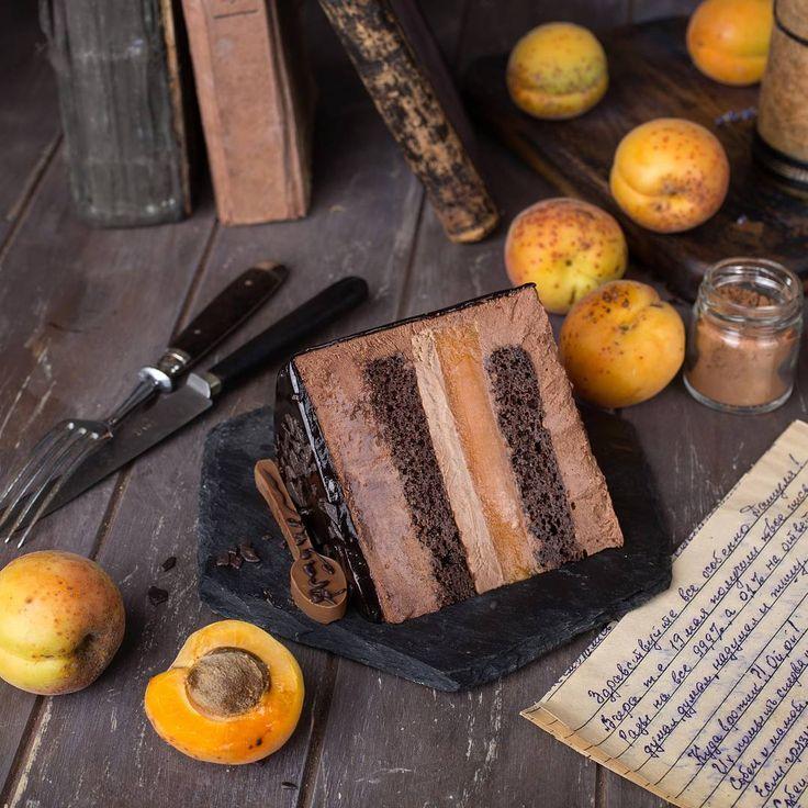 2,794 отметок «Нравится», 85 комментариев — Дарья Близнюк (@zhabcka) в Instagram: «*** #chocolate &  #apricot #cake Prague *** ....традиционный разрез торта для 4этапа марафона…»