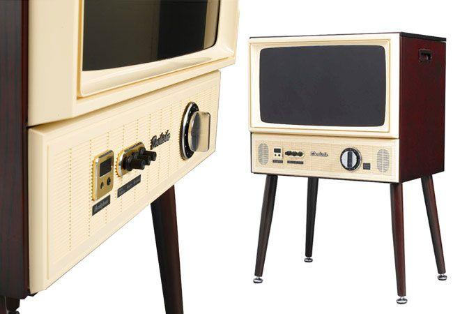 Doshisha 1960s-style Vintage Taste LCD TV
