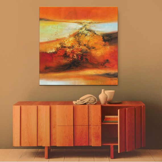 Extra Large Wall Art Abstract Painting Abstract by GeorgeMillerArt