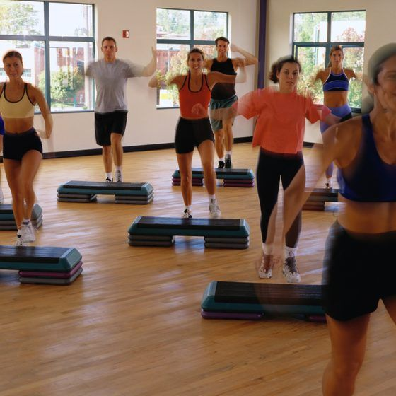 step aerobics is fun for all fitness levels