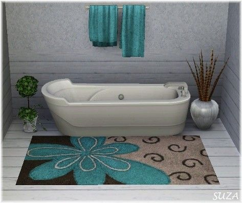 10 Interesting And Fun Bathroom Area Rugs