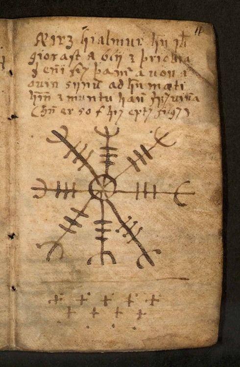 l 39 ancien symbole runique viking avait un r le de protection magique du guerrier aegishjalmur. Black Bedroom Furniture Sets. Home Design Ideas