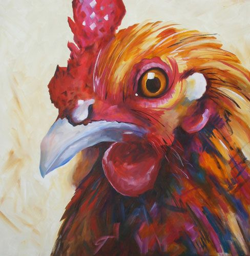 Looking at You - 36 x 36. By Kay Wyne