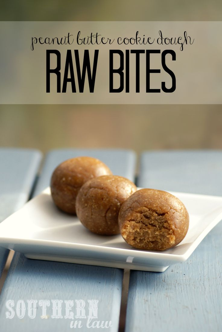... Cookie Dough! These Peanut Butter Cookie Dough Raw Bites are so simple