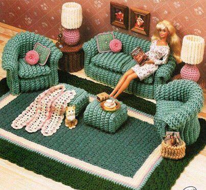 Juego de sillones al crochet