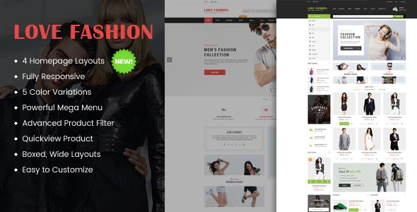 Love Fashion is a modern, clean and fully responsive OpenCart theme that looks perfectly on   any device. It is a multi-purpose  theme with highly the customizable layout ideal for online fashio...
