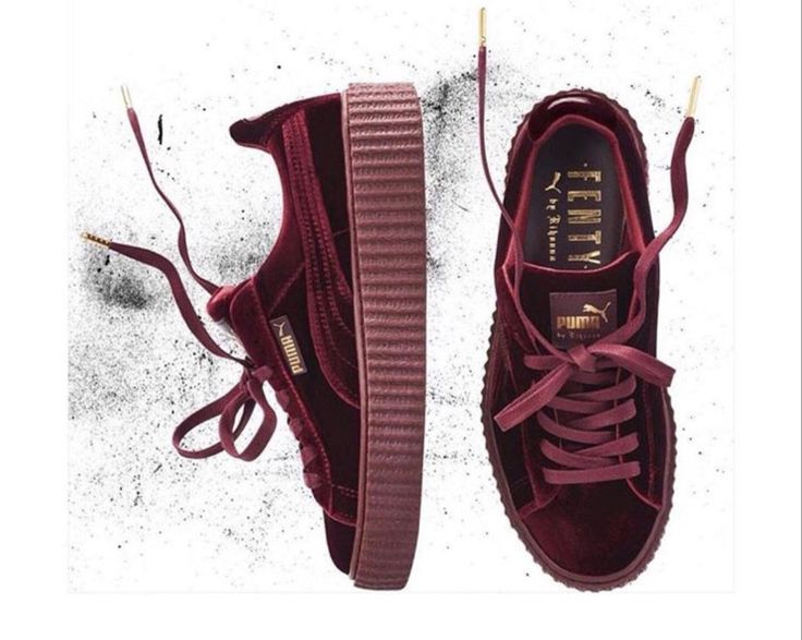 Burgundy Puma Shoes