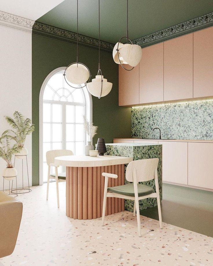 10 tips para conseguir una buena iluminación en casa que harán que tus muebles y tus objetos brillen con luz propia. Porque si hay algo crucial en el diseño de interiores es la iluminación, ella sola es capaz de transformar los espacios y convertirse en tu mejor aliada. Cocina Art Deco, Casa Art Deco, Art Deco Kitchen, Kitchen Decor, Sage Kitchen, Interiores Art Deco, Terrazzo, Interior Flat, Kitchen Interior