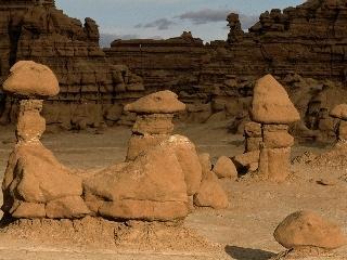 Formaciones rocosas fantasmas