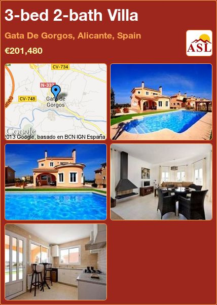 3-bed 2-bath Villa in Gata De Gorgos, Alicante, Spain ►€201,480 #PropertyForSaleInSpain