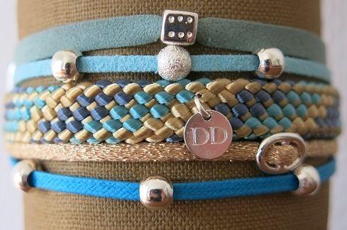 Bracelet manchette turquoise
