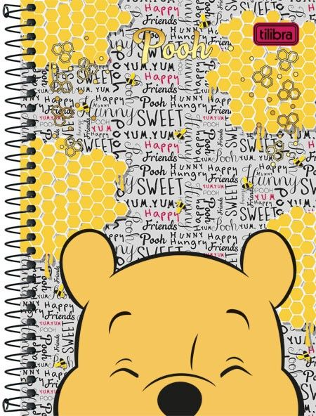 Caderno Espiral Capa Dura 1/4 Pooh 96fls