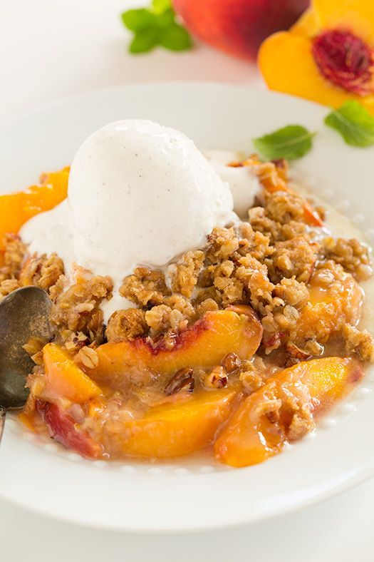 It's true, this is no doubt the best peach crisp I've ever had! I'm completely in love with it! I couldn't stop reaching for just one more bite, and then a
