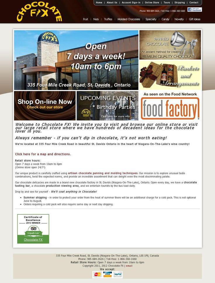 The website 'Chocolatefx.ca' courtesy of @Pinstamatic (http://pinstamatic.com)