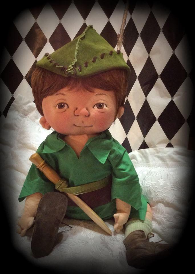 PETER PAN ooak Baby boy dressed in Peter Pan clothing with unique ...