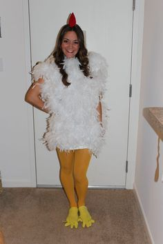 Huhn Kostüm selber machen | Kostüm Idee zu Karneval, Halloween & Fasching