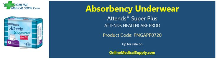 Attends Super plus Absorbency Underwear adult diapers are ultimate defense leak-guard leg cuffs and contain additional super absorbent polymer and cellulose fibers for better absorbency. Visit https://onlinemedicalsupplyusa.wordpress.com/2016/09/21/top-quality-incontinence-supplies-and-adult-diapers-on-a-leading-medical-supplies-online-store/