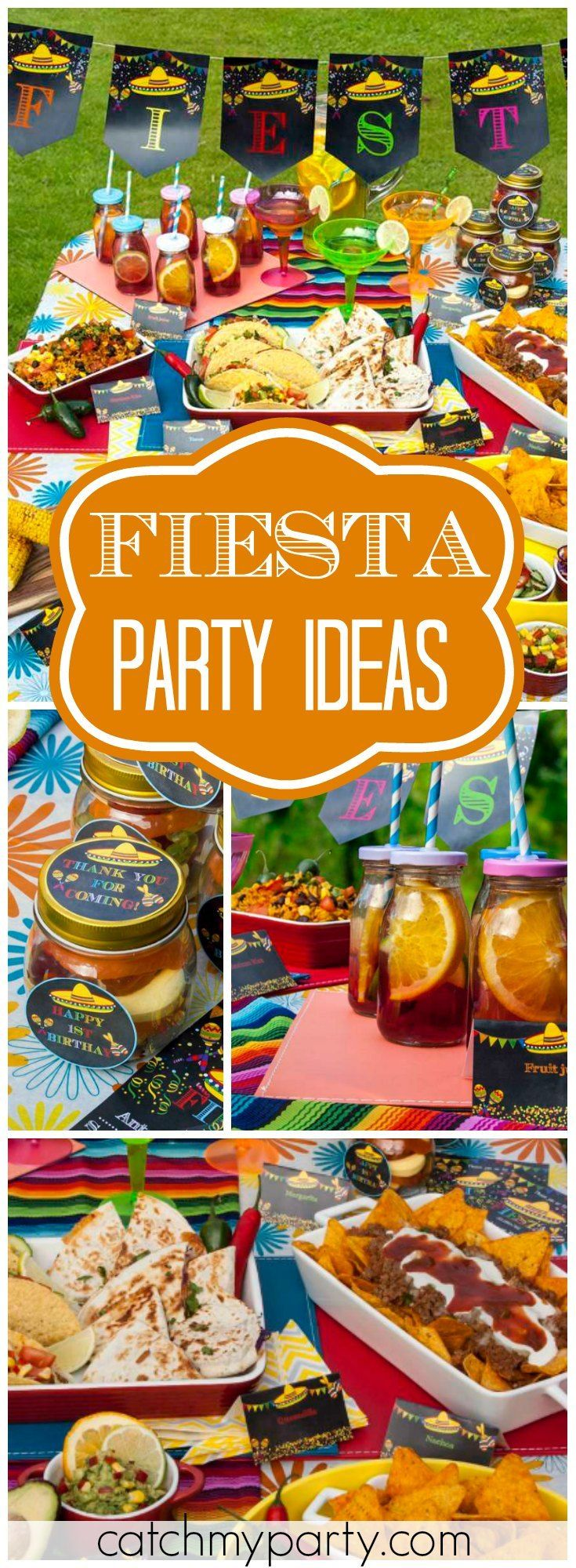 How about having a Mexican fiesta for a first birthday?! See more party ideas at Catchmyparty.com!