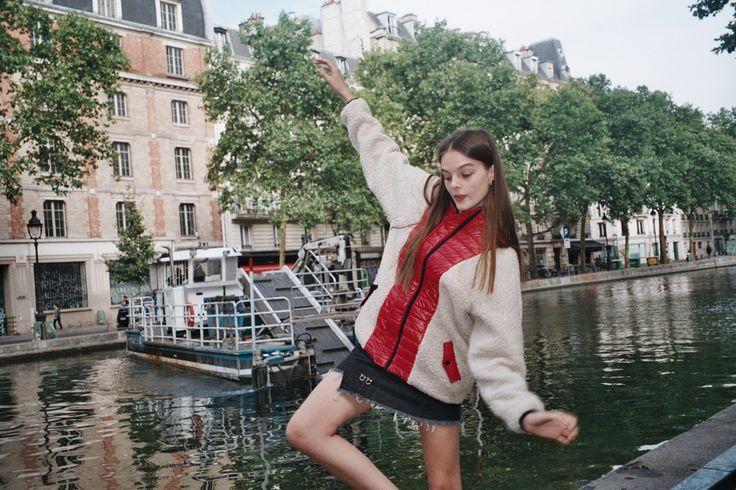 Sandy Liang jacket and gromet skirt