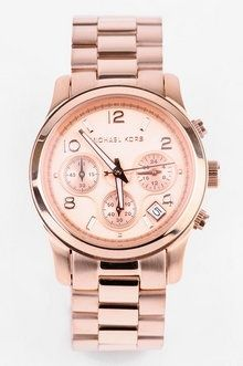Michael Kors Watches Rose Gold Chronograph ...