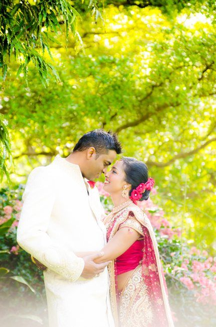 Tamil couple at the park