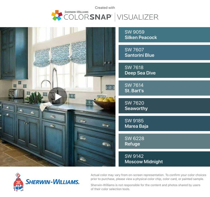 Midnight Blue Kitchen Island: I Found These Colors With ColorSnap® Visualizer For IPhone