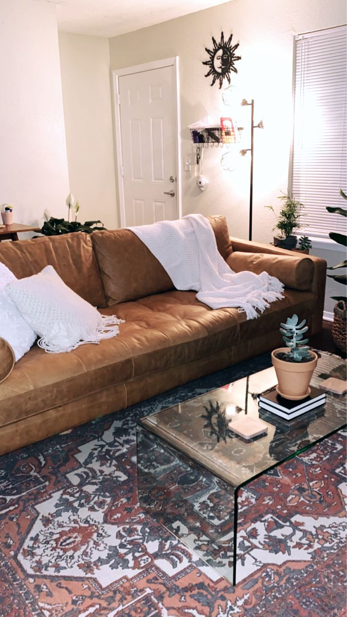 Leather Mcm Couch Leather Couches Living Room Rugs In Living Room Glass Table Living Room [ 1200 x 675 Pixel ]