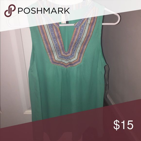 Teal colored blouse Gently worn Tops