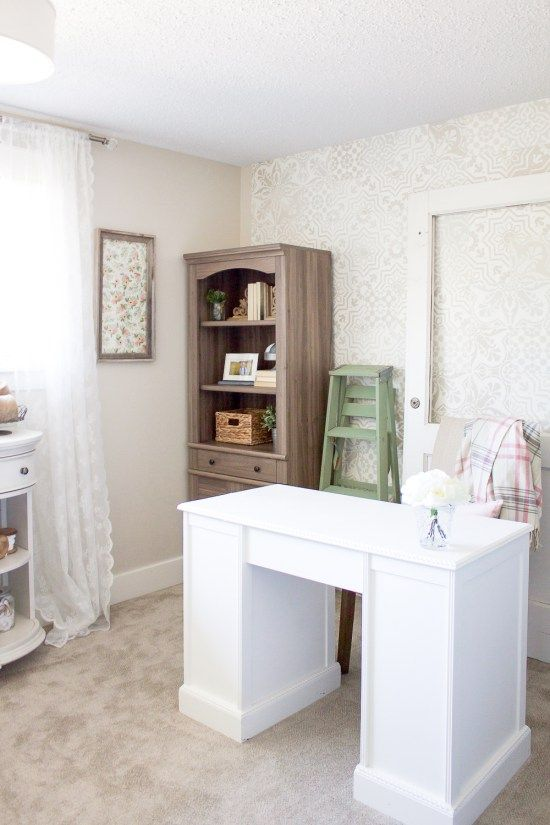because no space is ever truly complete a farmhouse style office update