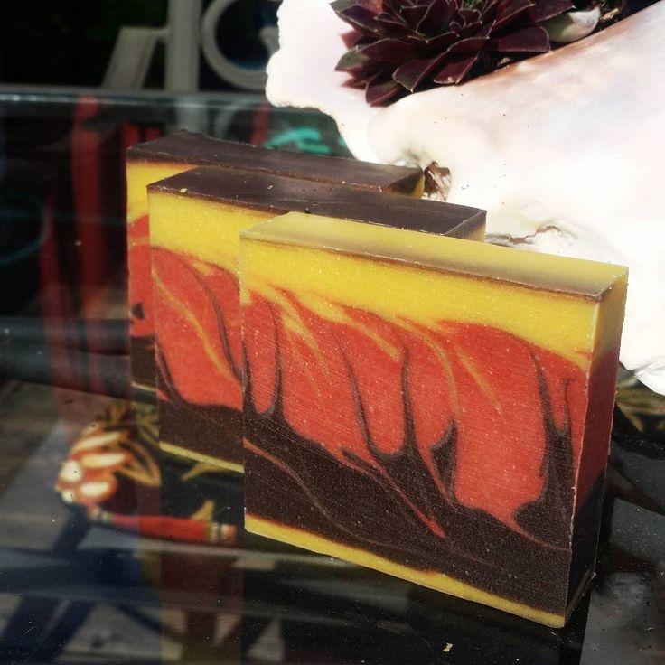 Georgia peach scented soap.  #soaping #handmadesoap #portland #peach #skincare