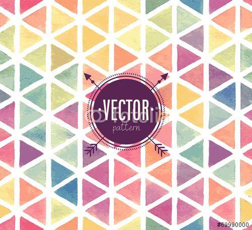 Vector: Vector Watercolor seamless pattern.