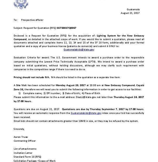 Quotation Negotiation Letter