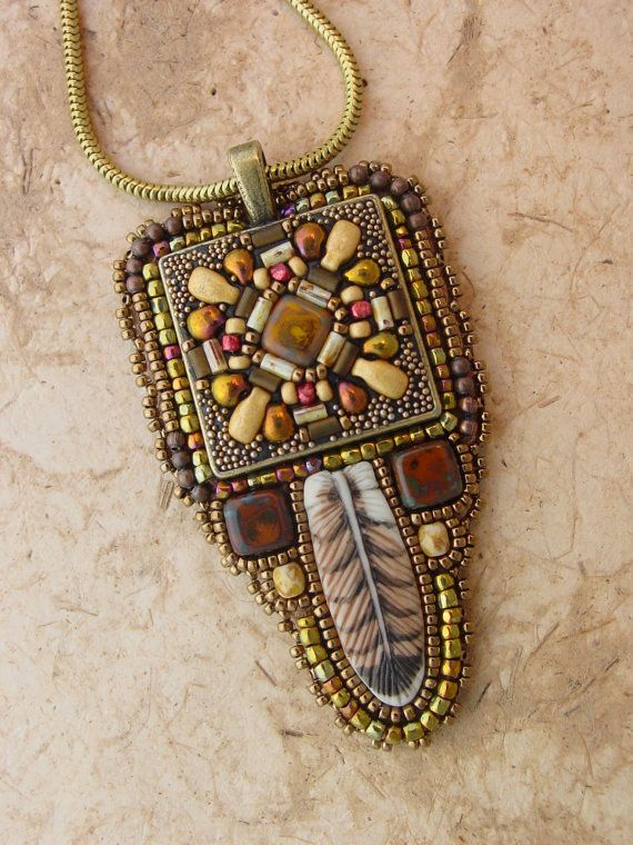 Mosaic Pendant Kit with Hawk Feather