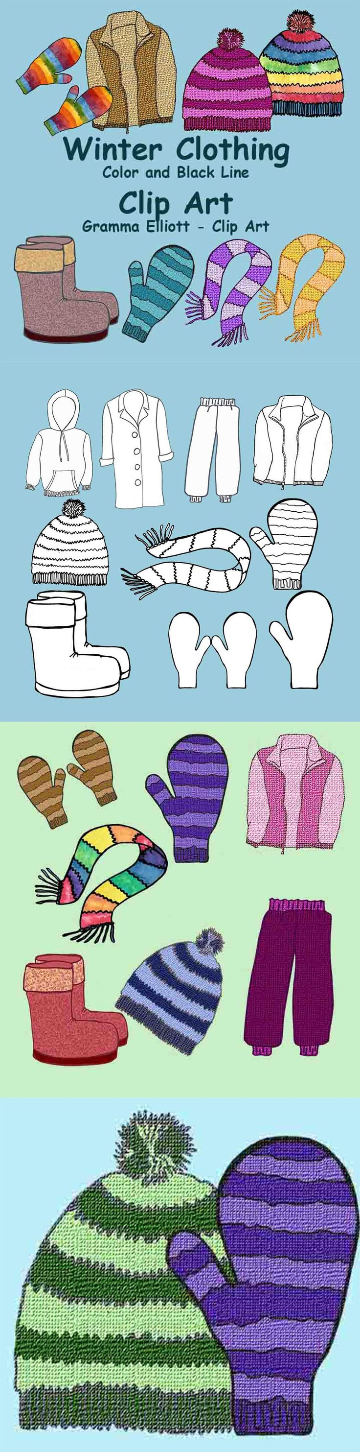 Red light clip art amp red light clip art clip art images clipartall - Winter Clothing Clip Art Realistic Mittens Scarf Hat Snow Pants Jacket