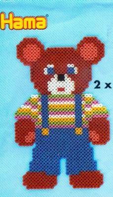 Teddy Hama perler pattern