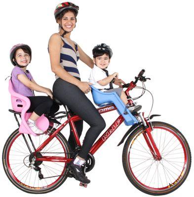 Cadeirinhas para bicicleta da KALF. Passear em família é sempre divertido. #bike #bicicleta #diversão #família #pedalar