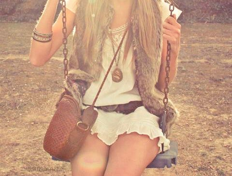 Boho style = favorite.: Summer Fashion, Boho Chic, Bohemian Fashion, Summer Outfit, Fashion Styles, Swings, Fur Vests, Cute Outfit, Summer Clothing