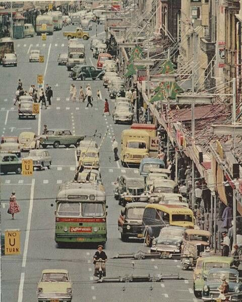 Trolleys in Auckland City, circa mid 1960s
