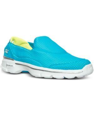 Zapatillas de paseo Go Walk 3 Slip-On para hombre Performance, azul marino / gris, 9 EW US