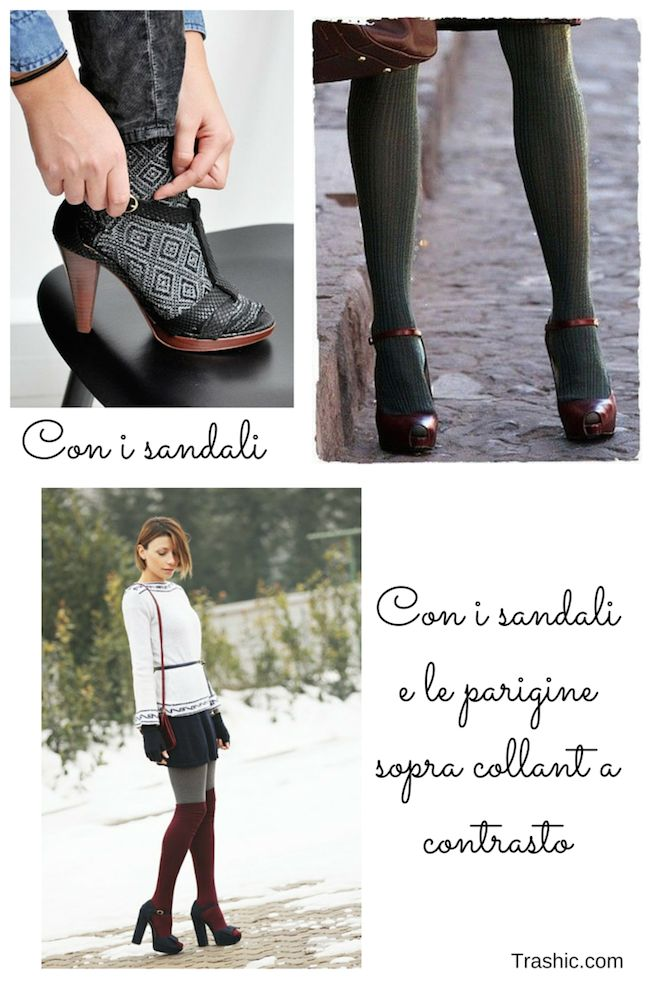 Le #calze con i #sandali. Qui il post: http://trashic.com/2015/01/come-indossare-e-abbinare-le-calze/