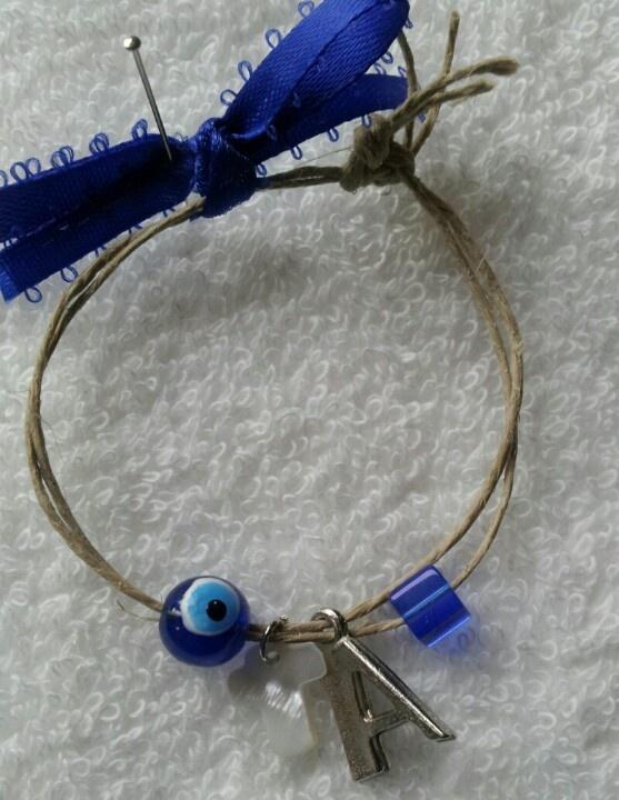 Martyrika bracelet with mataki white cross and initial