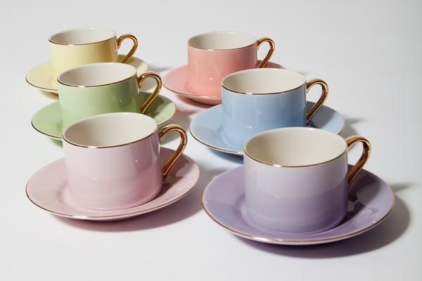 Yedi Pastel Cup and Saucer Set/6