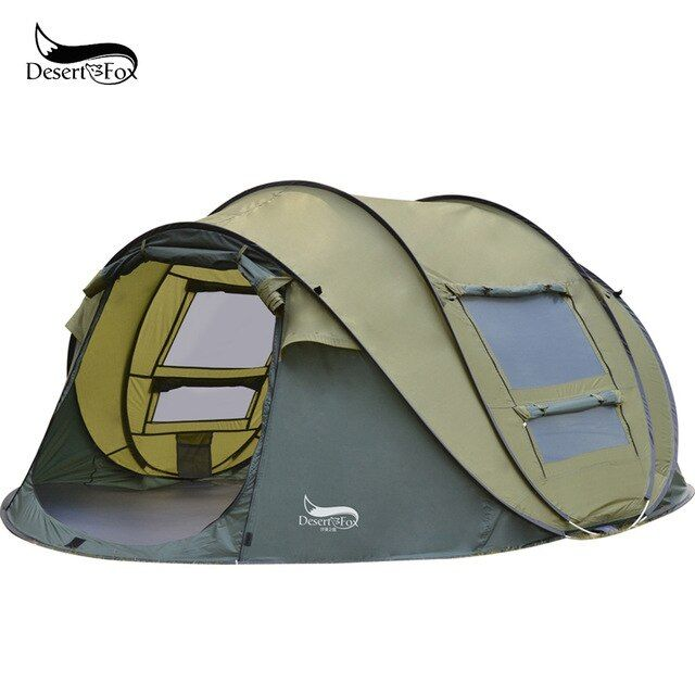 Desert&Fox Automatic Pop up Tent, 3 4 Person Outdoor Instant