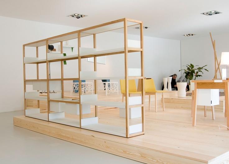 Marina Bautier | Lap shelving - Really like the simplicity and modularity